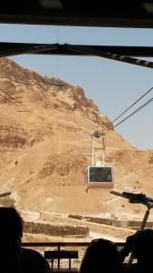 Vista del desierto Masada